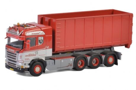 WSI Kim's Container Scania Streamline Highline 8x4 + Hooklift 40m3 Skip Container